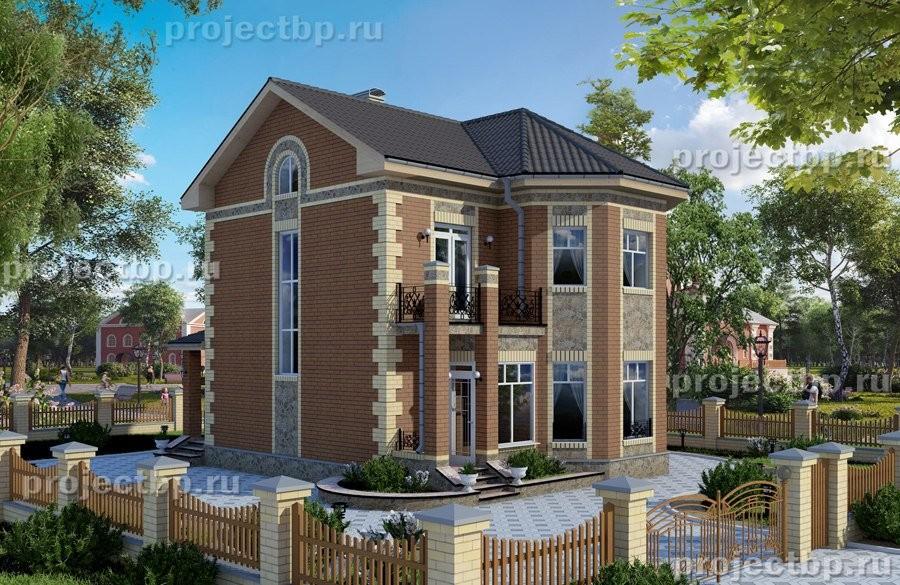 Проект  двухэтажного дома с эркером 9х10 108-B-Z